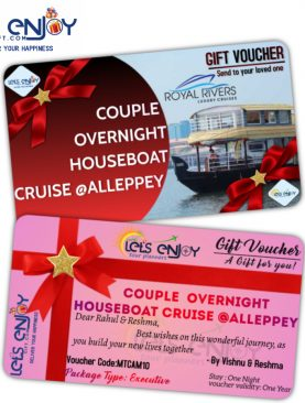 Houseboat Overnight Cruise Gift card for Couples